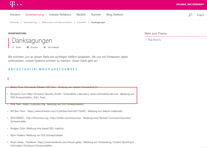 Telekom Magenta Musik 360 - Multiple Cross Site Scripting